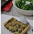 Tarte aux blettes, lardons et parmesan
