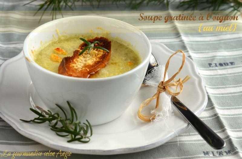soupe gratin e l 39 oignon et au miel la gourmandise. Black Bedroom Furniture Sets. Home Design Ideas