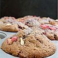 Muffins framboise et praline rose