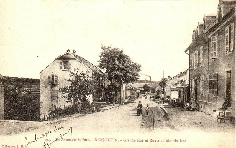 CPA Danjoutin Grande Rue et Route de Montbeliard