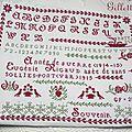 Le marquoir d'Eugénie, brodé par Gillette