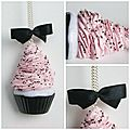 collier cup cake gourmand rose
