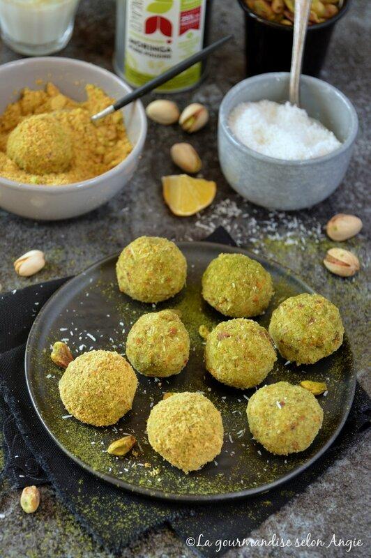 truffes crues pistaches coco et moringa 14