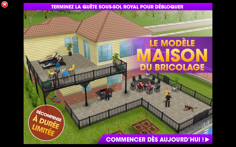 Les sims freeplay bricossimo sous sol royal for Modele maison sims