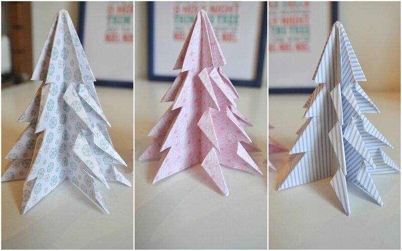 sapins origami fannyseb 17 nov les lutins jour après jour forum clean et simple