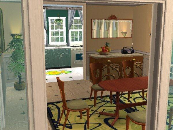 Villa dolly maisons deco sims2 for Cuisine qui donne sur le jardin
