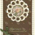 Carte rose ancienne