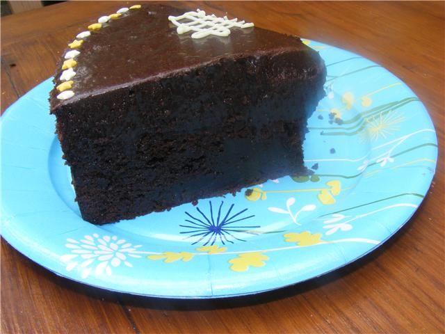 G teau tout chocolat dans la cuisine de corinne - Gateau au chocolat anniversaire facile ...