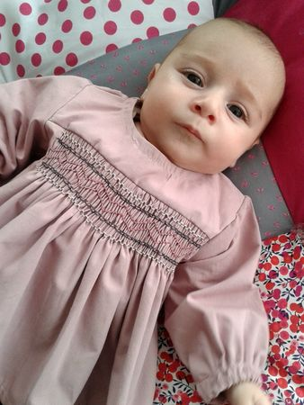 Tenue blouse smocks-sweet boudoir6M 1-6