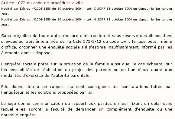 article 1072 du code de procédure civile