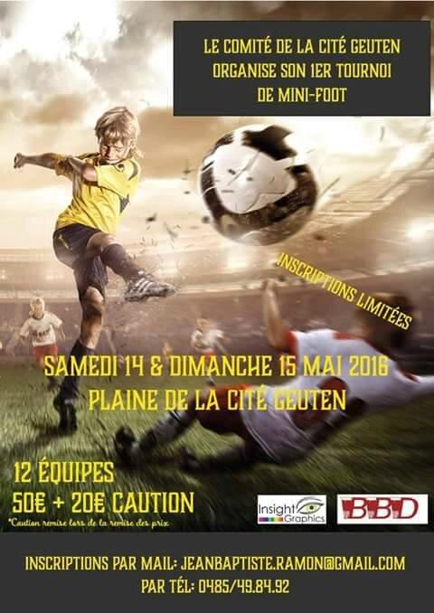Le Comité de la cité Geuten organise son premier tournoi de mini foot