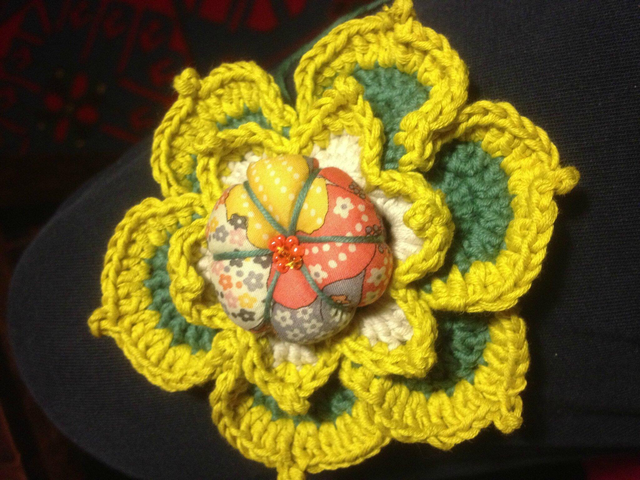 fleur crochet mauvey