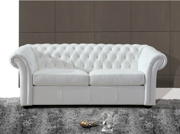 Le canap chesterfield blanc diy relooking mobilier cr er ma d co - Canape chesterfield blanc ...