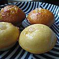 Minis muffins citron et massepain