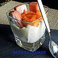 Charlotte,façon tiramisu aux abricots et au vinaigre de mangue et de vanille!