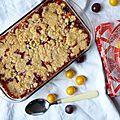Flapjack crumble aux prunes de jamie oliver, le crumble +++