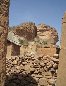 échelle de bois traditionnelle Dogon Mali
