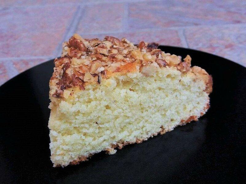 Part gâteau amande noix4