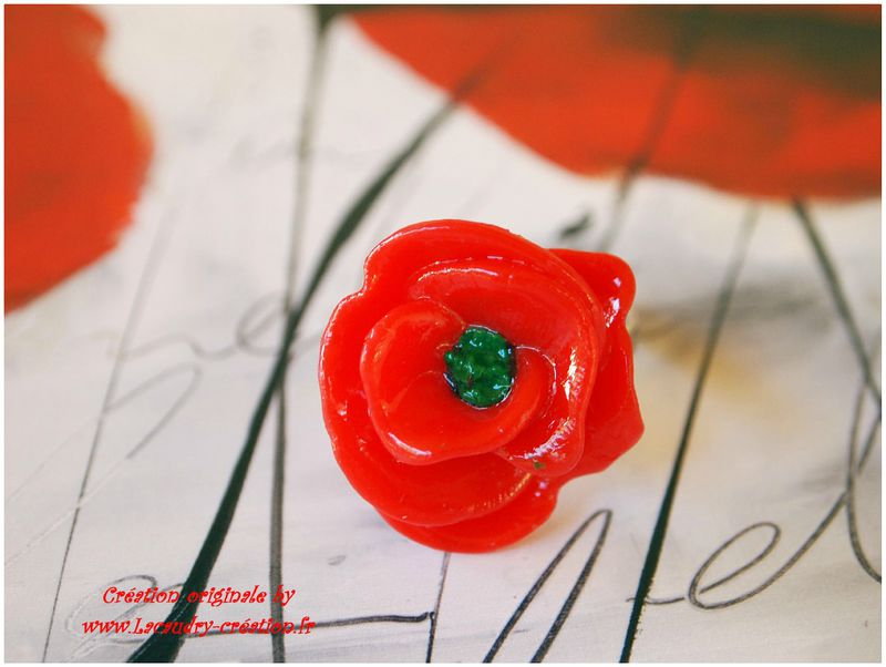 bague wepam coquelicot rouge lacaudry creation