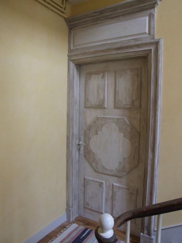 porte peinte photo de patines christophe boucher. Black Bedroom Furniture Sets. Home Design Ideas