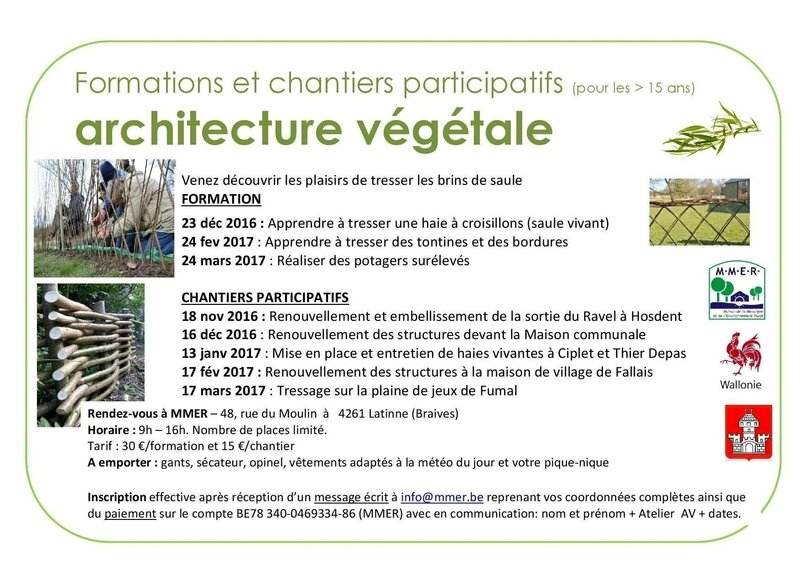 Architecture v g tale formations et chantiers for Architecture vegetale