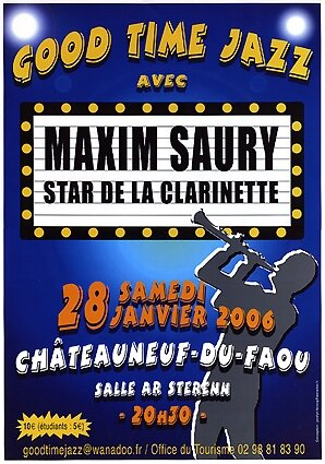 Affiche : concert Maxim Saury