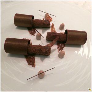 Chocolat grand cru - Au safran, chantilly Jivara, dentelles croustillantes (2)