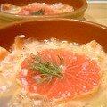 Tartare de saumon au miel et pamplemousse