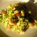 Salade brocolis, poivron, pomme