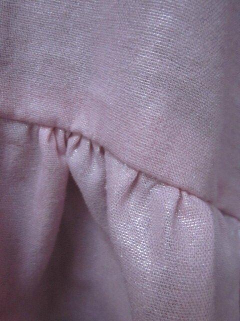 Blouse CERISE en lin rose pailleté (6)