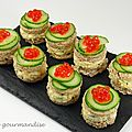 Mini-sandwichs au crabe