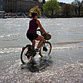 Crue quai de seine, Printemps, vlo_8668
