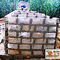 latrines CEG - montages des murs 3