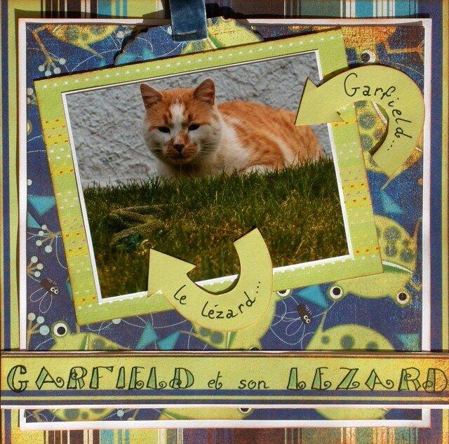 Garfield et son lézard