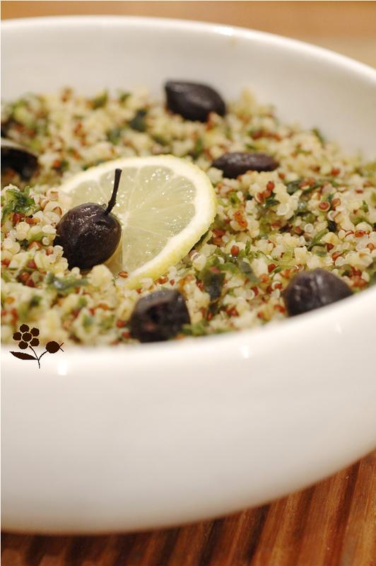 Taboulé boulgour & quinoa, laitue de mer, olives noires_2