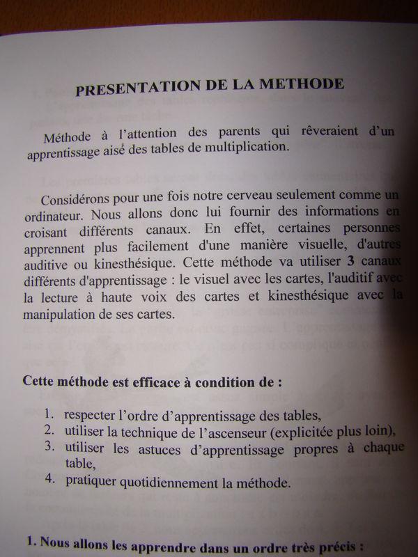 Indispensables pour la rentr e le blog d 39 augustin - Methode pour apprendre les tables de multiplication ...