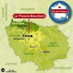 carte-de-localisation-du-plessis-bouchard 95 IDF