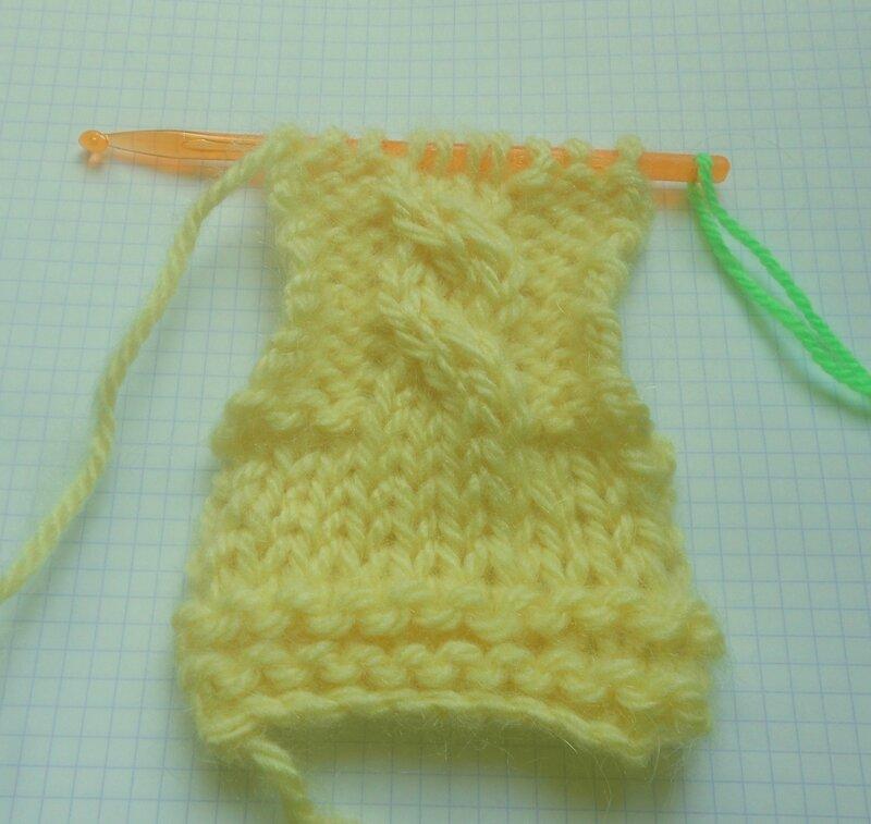tricot au crochet torsades