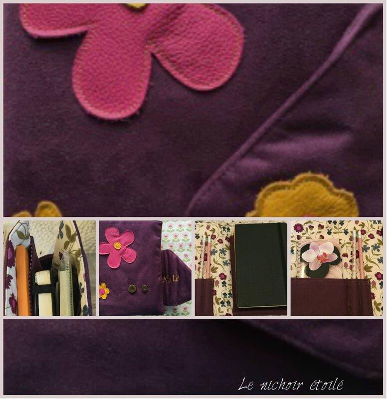 Le nichoir étoilé set écriture cuir et Liberty Mirabelle
