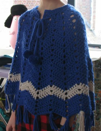poncho5 AM-21- Natural colour no kagibariami komono- Mufler, Shawl, Poncho, Vest