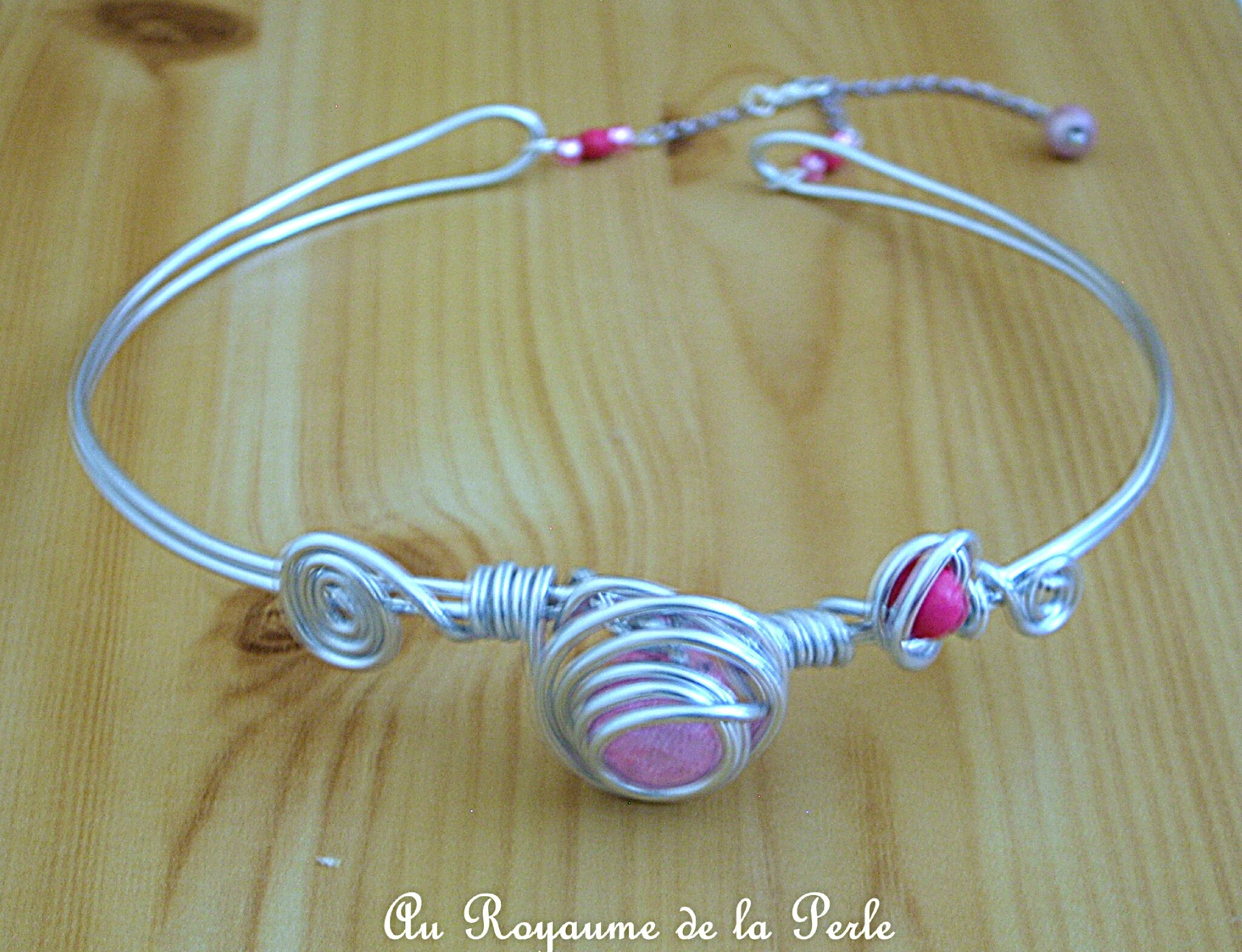 Collier rose aluminium B