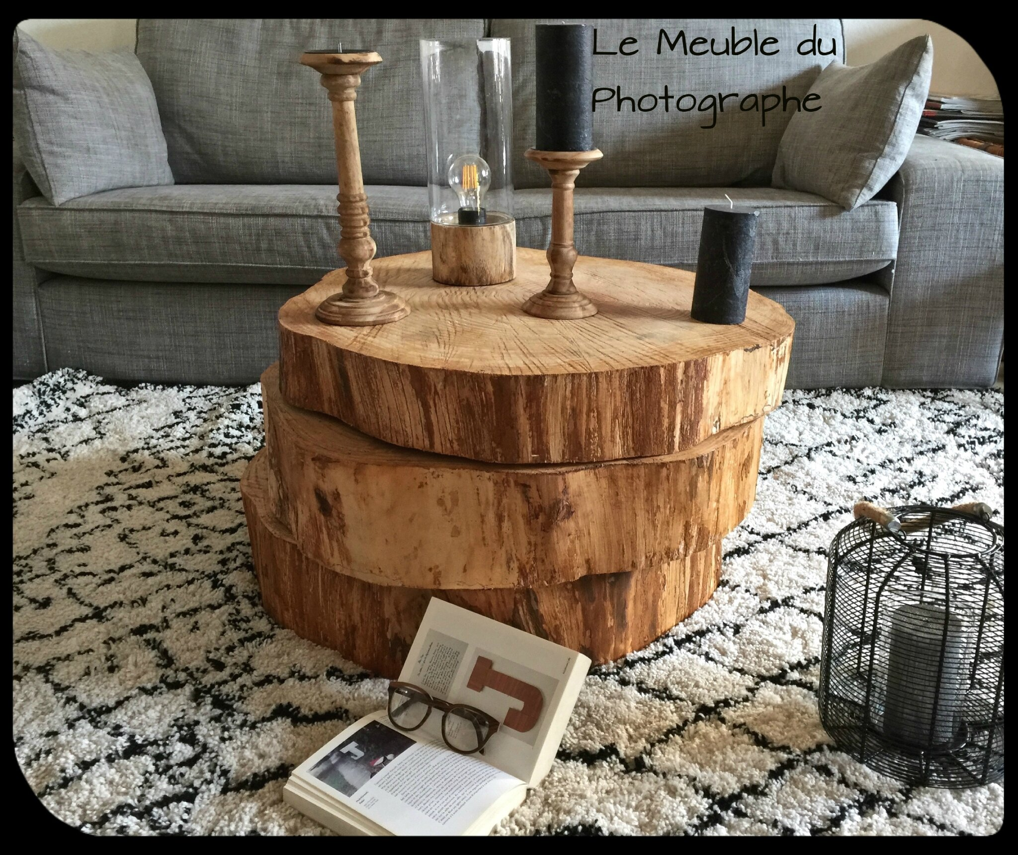 1 2 3 rondins font une table basse barbatruc et r cup for Le meuble du photographe