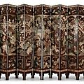 A twelve-panel coromandel lacquer screen. qing dynasty, kangxi period, dated gengchen year, corresponding to 1700