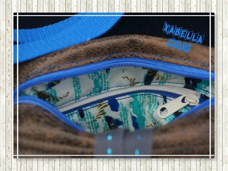 zip bicolore