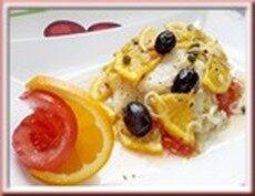 filet de julienne, tomate et agrume