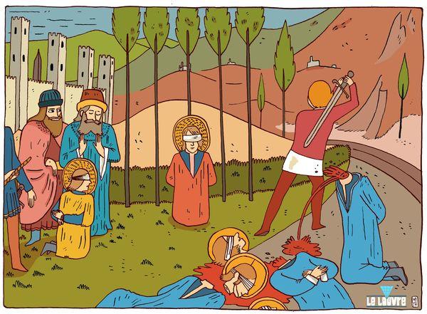 le martyre des cosme et Damien de Fra angelico