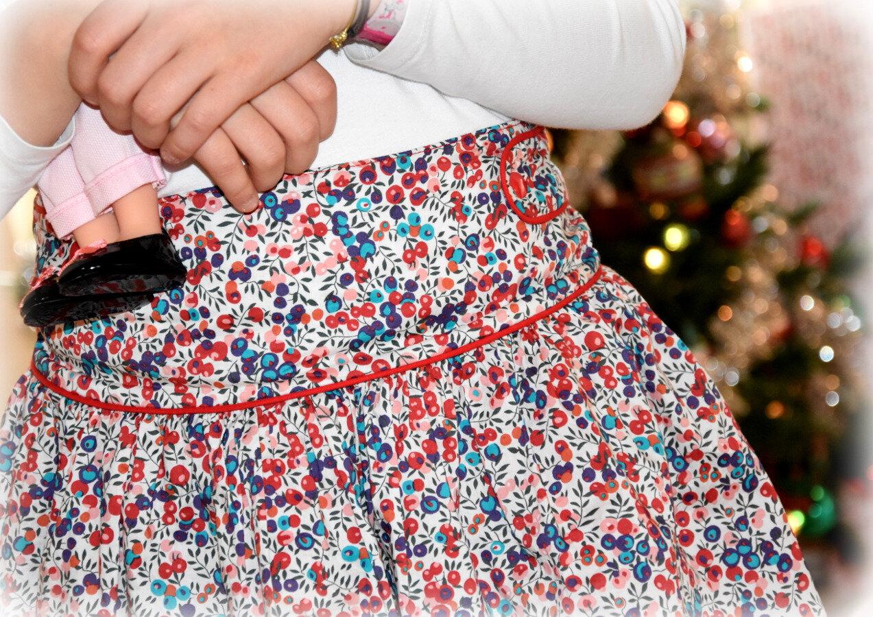 """la petite jupe en liberty """"Noël"""""""