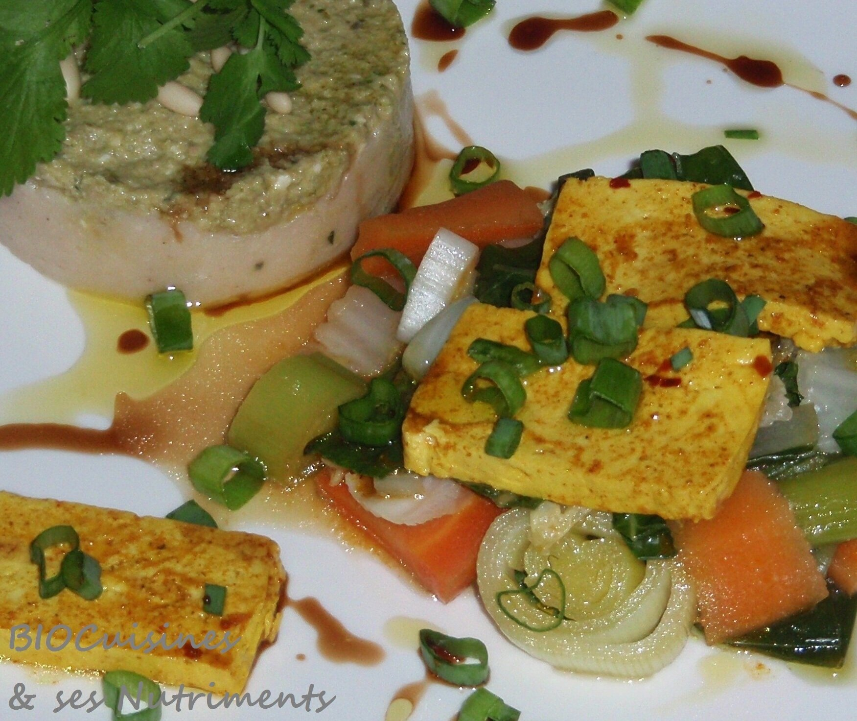 purée haricot tapenade, legumes, tofu