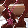 Collier cane bettina rose