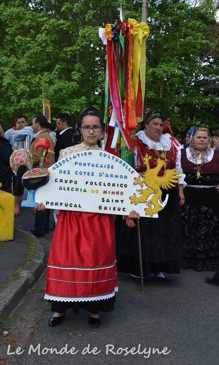 La fête de Fatima 2017 L'après midi avec le Groupe Folklorique Alegria do Minho de Saint Brieuc